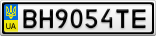 Номерной знак - BH9054TE