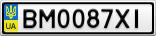 Номерной знак - BM0087XI