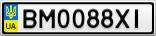 Номерной знак - BM0088XI