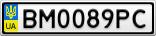 Номерной знак - BM0089PC