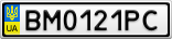 Номерной знак - BM0121PC