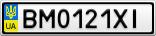 Номерной знак - BM0121XI