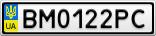 Номерной знак - BM0122PC