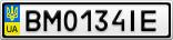 Номерной знак - BM0134IE