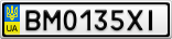 Номерной знак - BM0135XI