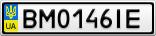 Номерной знак - BM0146IE