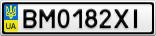 Номерной знак - BM0182XI