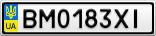 Номерной знак - BM0183XI