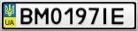 Номерной знак - BM0197IE