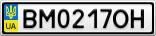 Номерной знак - BM0217OH