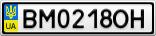 Номерной знак - BM0218OH