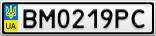 Номерной знак - BM0219PC