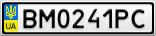 Номерной знак - BM0241PC