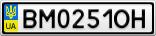 Номерной знак - BM0251OH