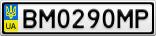 Номерной знак - BM0290MP