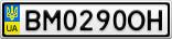 Номерной знак - BM0290OH