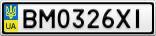Номерной знак - BM0326XI