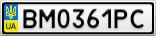 Номерной знак - BM0361PC