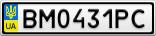 Номерной знак - BM0431PC