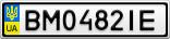 Номерной знак - BM0482IE