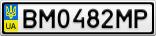 Номерной знак - BM0482MP