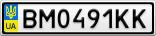 Номерной знак - BM0491KK
