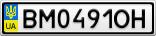 Номерной знак - BM0491OH