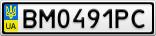 Номерной знак - BM0491PC