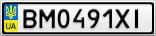 Номерной знак - BM0491XI