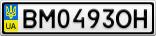 Номерной знак - BM0493OH