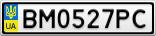 Номерной знак - BM0527PC