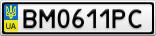 Номерной знак - BM0611PC