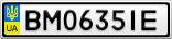Номерной знак - BM0635IE
