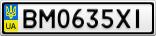 Номерной знак - BM0635XI