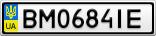 Номерной знак - BM0684IE