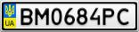 Номерной знак - BM0684PC