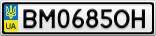 Номерной знак - BM0685OH