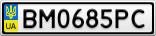 Номерной знак - BM0685PC