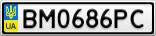 Номерной знак - BM0686PC