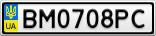 Номерной знак - BM0708PC