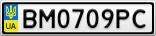 Номерной знак - BM0709PC