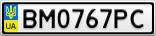 Номерной знак - BM0767PC