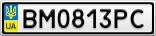 Номерной знак - BM0813PC