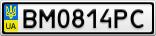 Номерной знак - BM0814PC