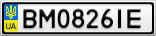 Номерной знак - BM0826IE