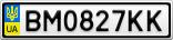 Номерной знак - BM0827KK