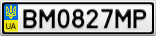Номерной знак - BM0827MP