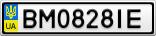 Номерной знак - BM0828IE