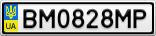 Номерной знак - BM0828MP