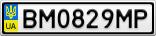 Номерной знак - BM0829MP